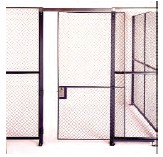 Single Slide Doors with 3 gate posts Right Center Bottom